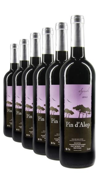 Weinpaket Pin d'Alep Syrah 2012 (6Fl x 0.75L)