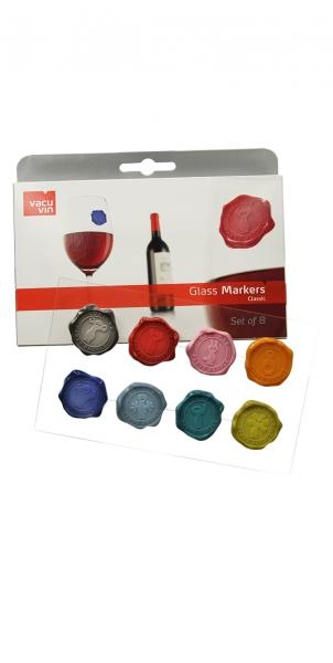 Vacu Vin Glasmarker Klassik Siegel 8er Set