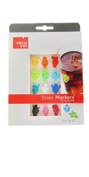 Vacu Vin Glasmarker Party People 12er Set