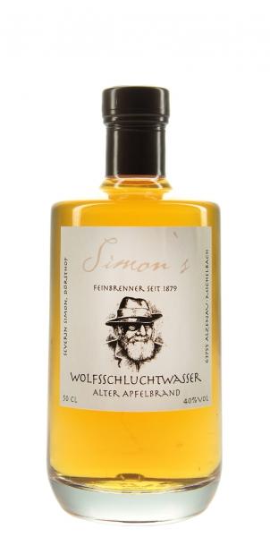 "Simons Wolfsschluchtwasser ""Alter Apfelbrand"" 0,5l"