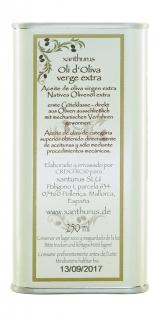 xanthurus oli d'oliva verge extra 0,25L 2015