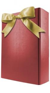 Geschenkverpackung 2er, bordeaux